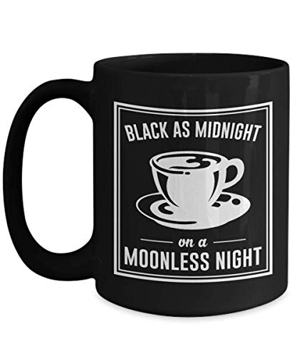 Black As Midnight On A Moonless Night Ceramic Coffee Mug - Twin Peaks Enamel Pin 11Oz 15Oz Black