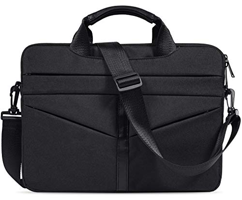 imComor 15.6 Inch Laptop Sleeve Shoulder Bag Waterproof Briefcase Handbag Case Cover for Acer Aspire/Predator, Toshiba, Dell Inspiron, ASUS P-Series, HP Pavilion, Lenovo, MSI GL62M Carrying Bag, Black