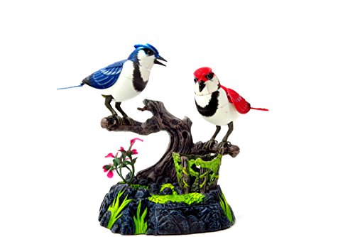CHIMAERA Singing & Chirping Birds Electronic Pets- Realistic Sounds & Movements (Blue Jays)