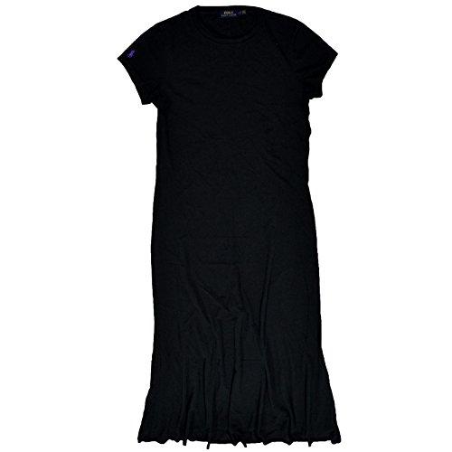 Ralph Lauren Maxi Dress Jersey Cotton Long Black