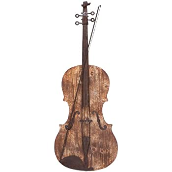 Well-known Amazon.com: Deco 79 54615 Raw Wooden Finish Violin Wall Decor, 15  FE88