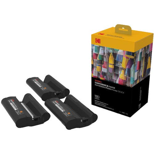(Kodak Dock & Wi-Fi Photo Printer Cartridge PHc - Cartridge Refill & Photo Paper - 120 Pack)