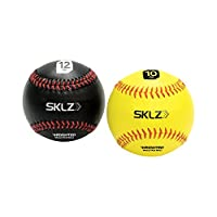 Paquete de 2 bolas de béisbol ponderadas SKLZ (10 oz amarillas, 12 oz negras)