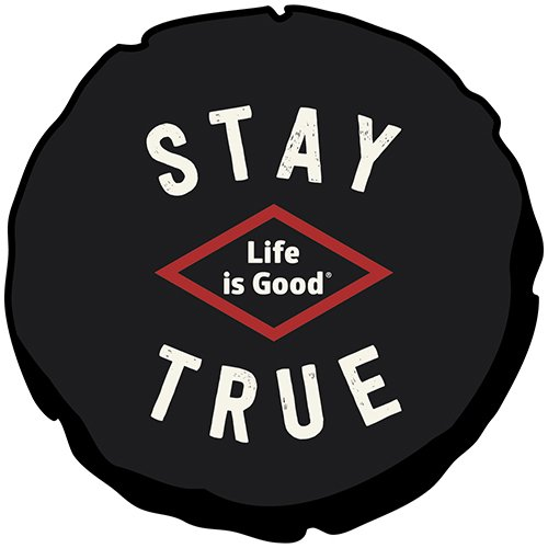 Life is good Tire Cover Stay True Tire Cover (Night Black), 31 (Is Good Life Jeep)