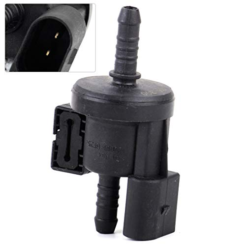 Cacys-Store - Black Canister Purge Solenoid Vent Valve Fit For VW Jetta Golf GTI Passat 06E 906 517 A