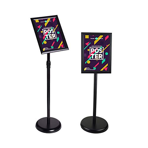 Black Adjustable Aluminum Sign Stand Poster Holder View Sign Displayed Menu Holder 11x17inch