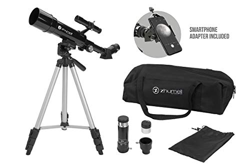 Zhumell Z50 Portable Refractor with Tripod, Phone Adapter & Carry Bag
