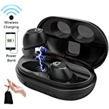 CHISANA Wireless Headphones – Bluetooth 5.0 Wireless Earbuds Headset | 3D Stereo Sound Deep Bass in-Ear HiFi True Wireless Earbuds w/Built-in Mic | 72H Playtime with 2200mAh QI Portable Charging Case