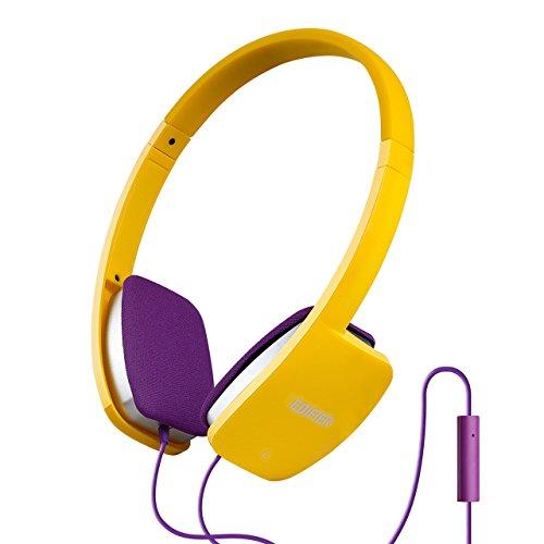 هدفون Edifier P640 هدفون شیک شیک با میکروفون و کنترل داخلی - زرد / آبی