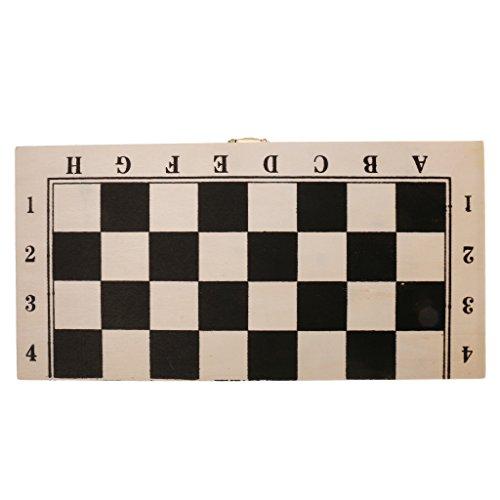 Baosity 国際チェッカー 木製 西洋碁 正方形 折りたたみ ボードゲーム 軽量 64フィールド  ドラフツ ギフト  約29x 29cm   の商品画像