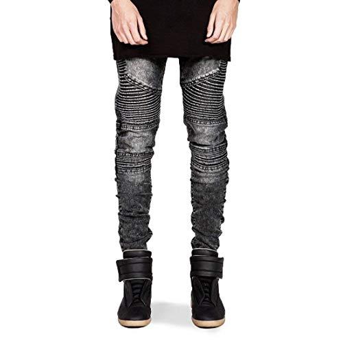 Uomo Legging Especial Denim Pantaloni Grau Fit Moto Slim Stretch Estilo Jeans Da Cotton Skinny qTw5Zn0xRt
