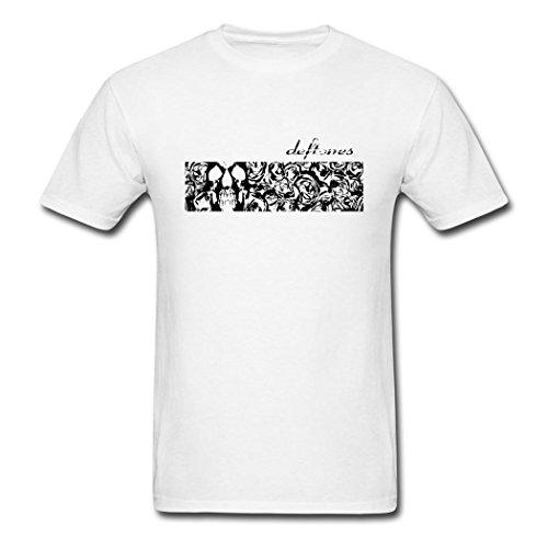 LOU fashion men' Deftones 2016 poster t shirt for men White XXXL
