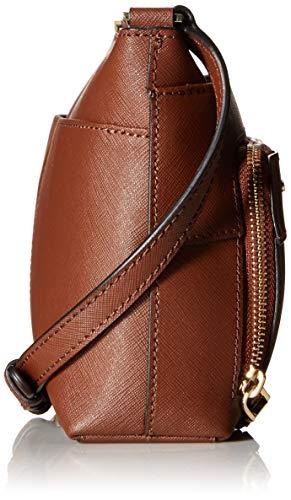Walnut Saffiano Leather Calvin Crossbody Top Klein Lily Zip nqWFxxwBE0