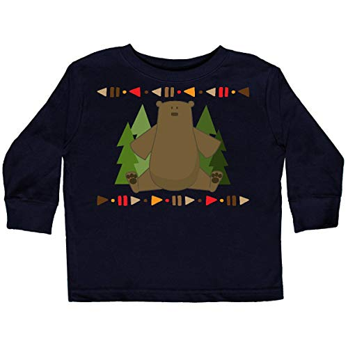 (inktastic - Tribal Bear Woodland Toddler Long Sleeve T-Shirt 3T Black 35587)