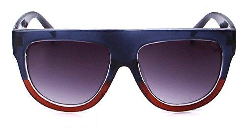 Qissy Femmes Designer Unisex erres Teintés UV400 Classique Lunettes de soleil en Oversize Lunettes Club master (B) qr4BqD78