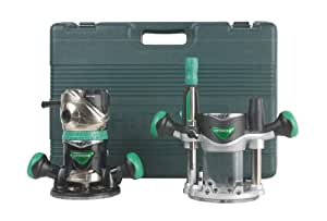 Hitachi KM12VC 11 Amp 2-1/4-Horsepower Plunge and Fixed Base Variable Speed Router Kit with 1/4-Inch and 1/2-Inch Collets
