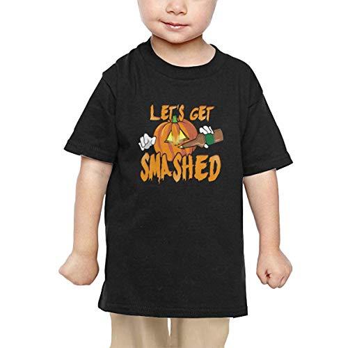 Let's Get Smashed Halloween Pumpkin Drinking Beer Newborn Tee Short Sleeve Tops]()