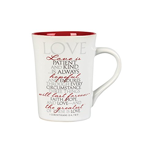Lighthouse Christian Products It is Written Love Ceramic Mug, 14 oz