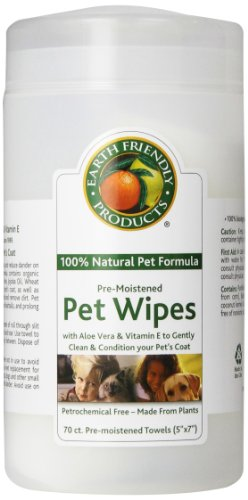 Natural Pet Pre-moistened Pet Wipes, 70-Count Containers (Pack of 6)