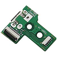New World ® PS4 Playstation 4 Controller 12 Pin USB Charging Port Socket Board JDS-030 with cable for PS4 Controller Replacement Parts