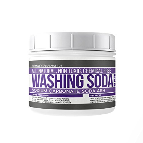 Earthborn Elements All-Natural Washing Soda, Resealable Tub with Scoop, Soda Ash, Sodium Carbonate, Laundry Booster, Non Toxic, Hypoallergenic (2 lb (32 (Washing Soda)