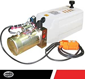 Hydraulic Power Unit (12V DC, Double Acting): 2 Gallon Polly