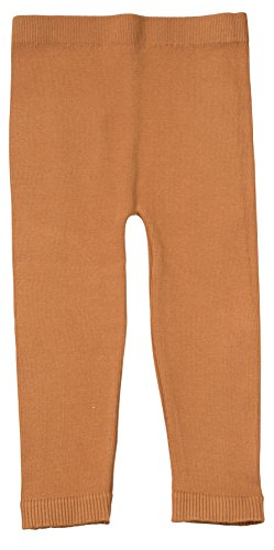 Pant Girls Knit - Silky Toes Infant, Baby, Toddler Knit Leggings, Cotton Pants for Girls and Boys, (Cognac, 2-4Y)