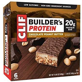 Clif Builder's Bar, 20 Grams of Protein, 2.4 Oz (Chocolate Peanut Butter, 24 Count)