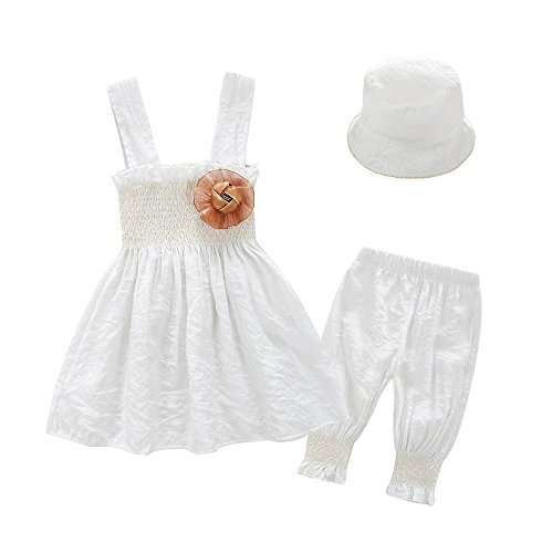 lothes Kids Tops Dress and Leggings With Sun Hat Outfits Set (9-12Months) (Le Top Sun Hat)
