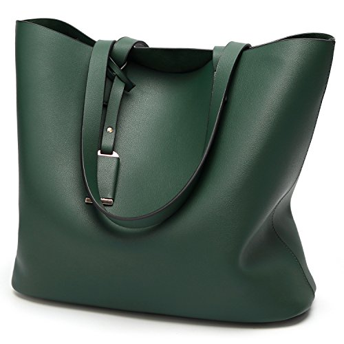 Green Leather Handbag - 4