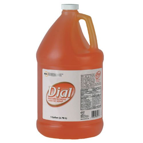 Dial Gold Antimicrobial Soap Floral Scent, Gallon Bottle 4/Case Antimicrobial Soap Gallon Pour Bottle