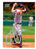 John Lannan autographed baseball card (Washington Nationals) 2008 Upper Deck #163 Silver Pen