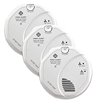 Image of First Alert BRK SC7010BV-3 Hardwired Talking Photoelectric Smoke and Carbon Monoxide (CO) Detector, 3 Pack