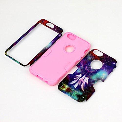 iPhone 6s Case, iPhone 6 cas, Hard Case Lantier hybride Heavy Duty avec disque Rugged PC + Inside Shell Silicone Cover antichoc pour Apple iPhone 6 / 6S 4,7 pouces (modèle Dream Catcher / Rose)