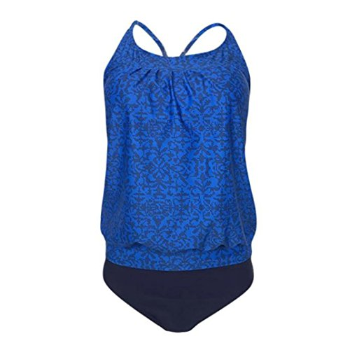 c434abda11e64 LtrottedJ Women Plus Size Printed Tankini Bikini Swimwear ...