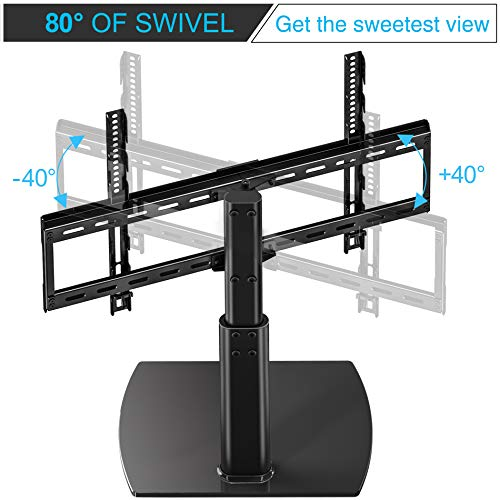 fitueyes universal tv stand base swivel tabletop tv stand import it all. Black Bedroom Furniture Sets. Home Design Ideas