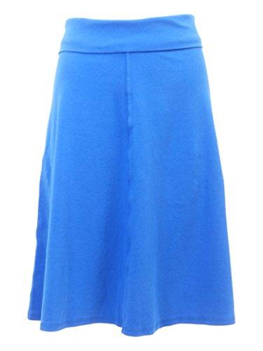(Hard Tail Rolldown A-line Knee Skirt B-126 (S, Royal Blue))
