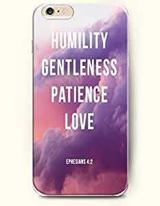 iPhone Case,OOFIT iPhone 6 Plus (5.5) Hard Case **NEW** Case with the Design of Humility gentleness patience love Ephesians 4:2 - Case for Apple iPhone iPhone 6 (5.5) (2014) Verizon, AT&T Sprint, T-mobile by supermalls