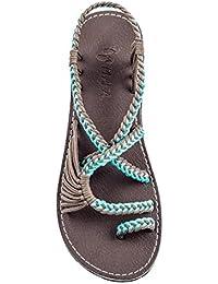 Flat Summer Sandals for Women Palm Leaf