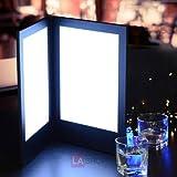 2-Panel LED Backlit Illuminated Menu Cover 8.5 x14 inches Black Leatherette Holder Check Displayer 110V for Dinner Dinning Supper Food Service Café Pub Hotel Resort Bar Bartender Lounge
