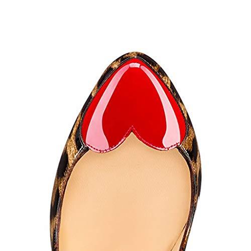 Ronde Style Talons De Chaussures Bout Tête Chaussures De Simples Léopard Amour Simples Aux Jour Robe Fête Femmes Léopard Chaussures Aiguilles Fermé 4gqFSEqBw