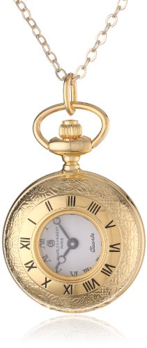 Charles-Hubert, Paris Women's 6764 Gold-Plated Quartz Pendant - Watch Hubert Charles Pendant