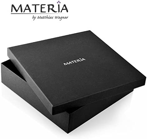 Materia #K29 Collier byzantin en argent Sterling poin/çon 925 rhodi/é et diamant/é Pour homme Dimension 2,5 mm Longueurs disponibles 45-80 cm Bo/îte /à bijoux incluse