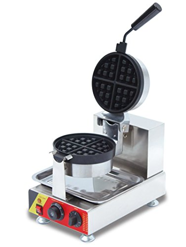 Commercial Nonstick 110V Electric Rotated Belgian Waffle Maker Iron Machine