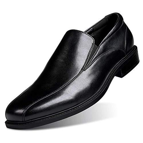 GM GOLAIMAN Men's Formal Leather Dress Shoes Slip-On Loafer Black 9