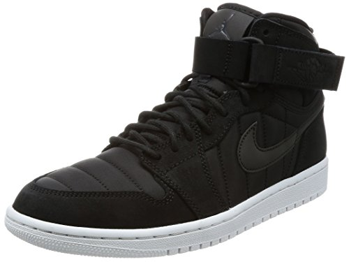 Nike Jordan Men's Air Jordan 1 High Strap Black/Black/Pure/Platinum Basketball Shoe 10 Men US