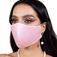Satin Silk Face Mask Womens Washable USA, Reusable Face Masks with Filter Pocket
