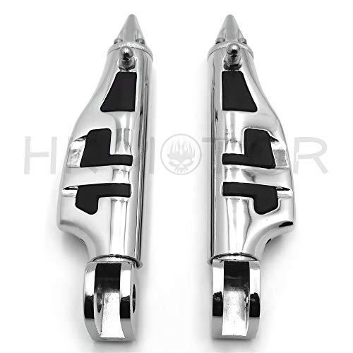 HONGK- Stiletto spike Footpegs Rear Compatible with Kawasaki Vulcan 900 Classic ZX-11R ZX-12R ZX-14R [B07NXNSP8L] ()