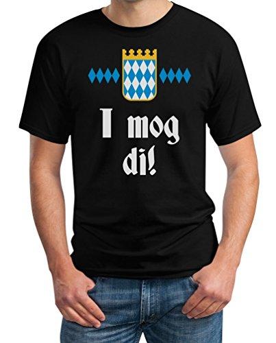 I mog di! Bayrischer Ausdruck fürs Oktoberfest T-Shirt XXXX-Large Schwarz
