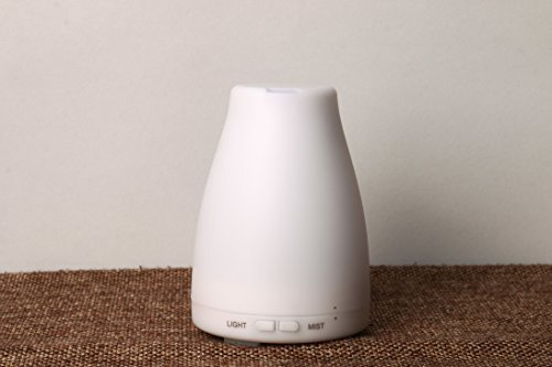PHtronics 100ml Aromatherapy Essential Oil Diffuser Portable Ultrasonic Cool Mist Aroma Humidifier With Color LED Lights Changing and Waterless Auto Shut-off Fuction for Home Office Bedroom - Prussia King If